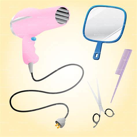 Pink Hair Dryer Clip beautician clip salon elements vector illustration