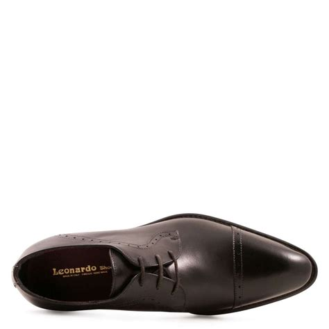 Handmade Shoes Mens - handmade black blucher dress shoes for leonardo