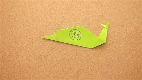 Origami Snail - how to make an origami snail 12 steps with pictures