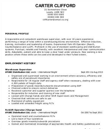Resume For Warehouse Worker by Warehouse Worker Resume 7 Free Sle Exle Format