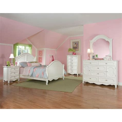 full bedroom furniture set adrian white 6 piece full bedroom set