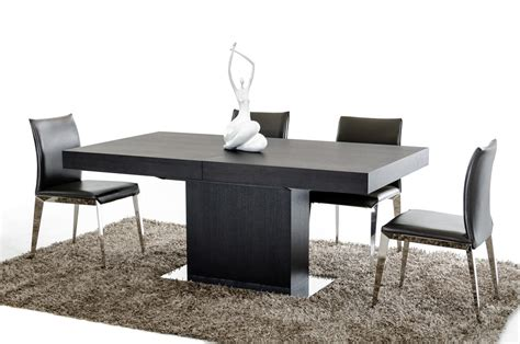 durham modern wenge extendable dining table