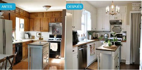 3 cocinas antes y despues pintar muebles de cocina antes y despu 233 s fotos y