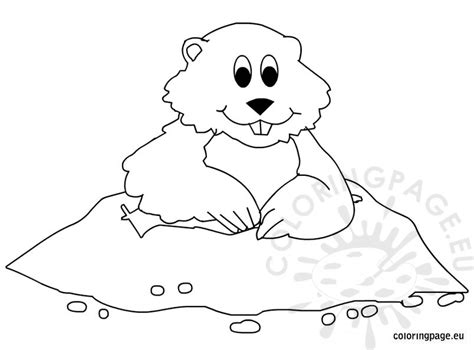 printable coloring page of a groundhog groundhog day coloring pages for kids