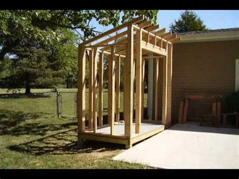 build  lean  style storage shed youtube