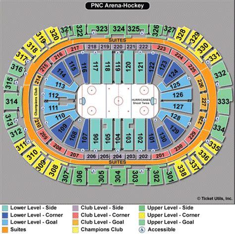 pnc arena seating chart carolina hurricanes tickets