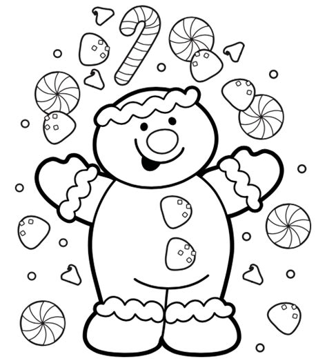cute gingerbread coloring pages 7 free christmas coloring pages grandma ideas