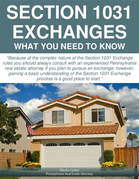 section 1031 exchanges section 1031 exchanges what you need to know