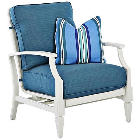 Blue And White Armchair by Klaussner Mimosa White And Blue Fabric Outdoor Armchair