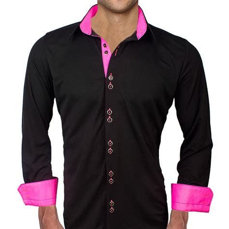 light pink mens dress shirt black with neon pink dress shirts