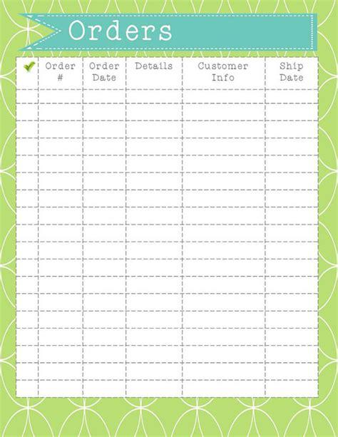 printable order forms for crafts order form printable instant download order organization