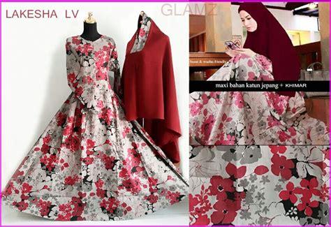 Baju Gamis Cantik Bahan Katun baju gamis cantik bahan katun jepang