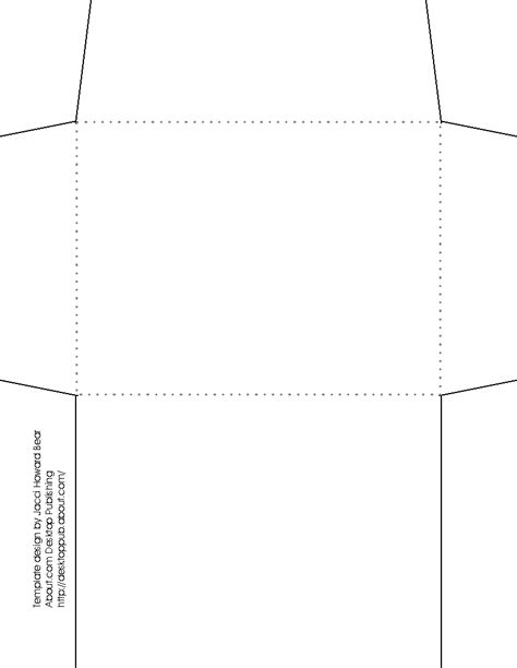 template of envelope envelope template paper craft