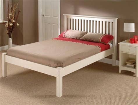 4 Foot Bed Frame Julian Bowen Barcelona Low Foot End White 4ft6 Wooden Bed By Julian Bowen
