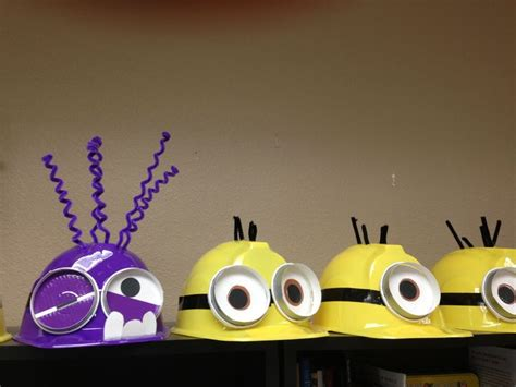 How To Make A Minion Out Of Construction Paper - minion hats supplies construction hats from city