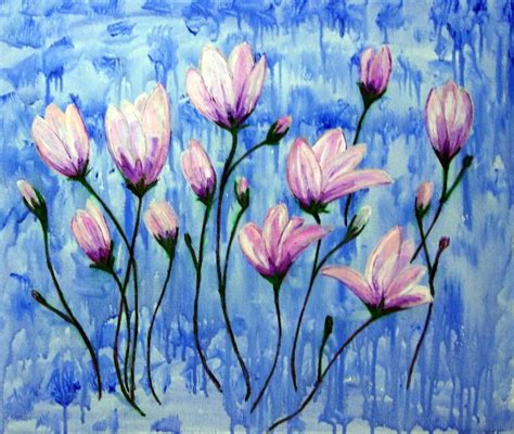acrylic flower acrylic painting ideas for beginners acrylic painting