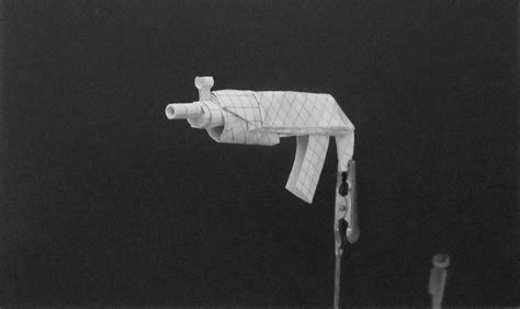 Origami Gun - origami guns submachine gun by solidmark on deviantart
