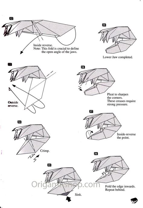 Origami T Rex Easy - free coloring pages origami dinosaur t rex