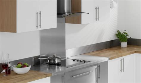 Backsplash Tiles For Kitchens by Stainless Steel Upstand 1000 X 150 X 8mm