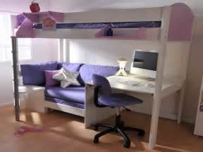 magnificent maintenance loft bed with desk and couch