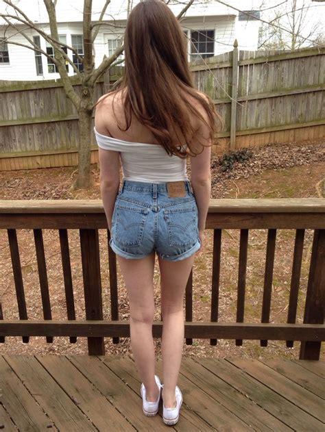 teen cut off denim shorts teen fashion converse levi s cutoffs jean shorts