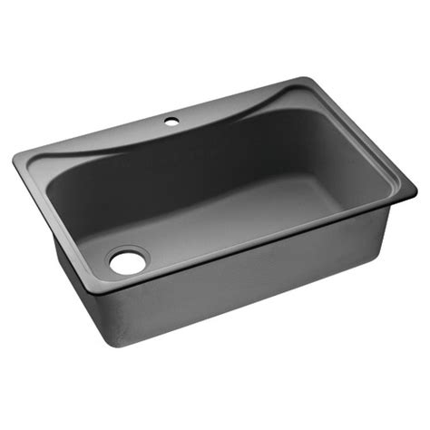 black single bowl kitchen sink dirtcheapfaucets com moen 25275bk moenstone granite big