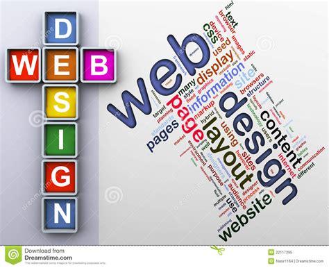 design dream up crossword crossword of web design royalty free stock photo image
