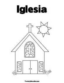 Iglesia Para Colorear  Dibujos AColorear sketch template