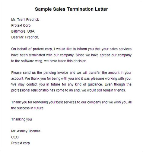 termination letter due to lack of work livecareer