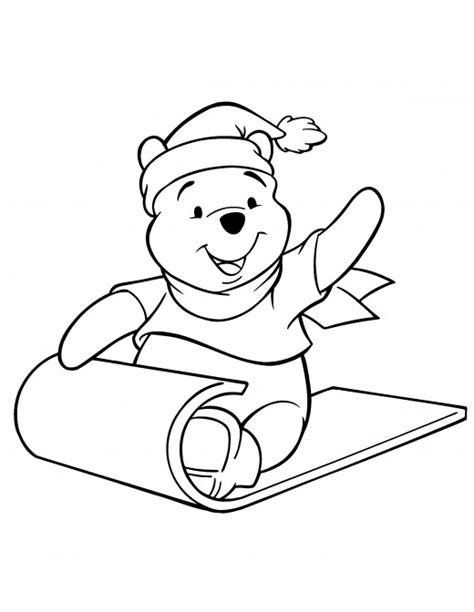 winnie the pooh christmas coloring pages wallpapers9