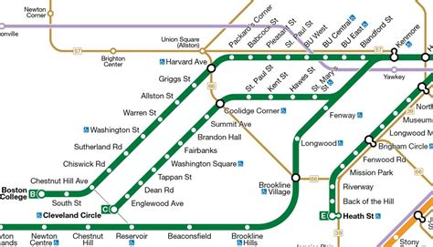 green line map chicago mbta green line map my