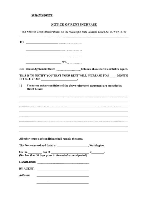 Rent Increase Letter Seattle Rent And Lease Template 584 Free Templates In Pdf Word Excel
