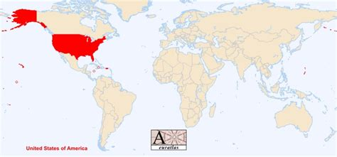 usa on world map world atlas the sovereign states of the world united