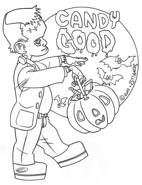 bride of frankenstein coloring pages getcoloringpages com