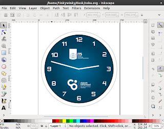desain jam dinding dengan corel tutorial desain jam dinding inkscape damaru studio