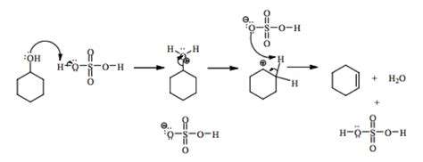 hydration of cyclohexene to cyclohexanol solved this is a detailed mechanism for the dehydration o