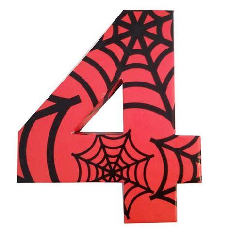 numeros para decorar letra o numero para decorar la mesa hombre arana partyplace