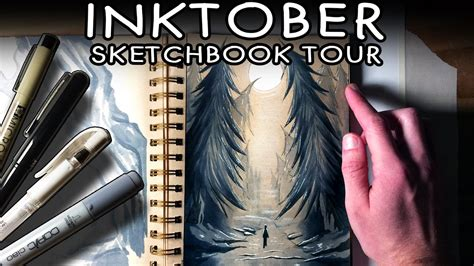 sketchbook tour inktober sketchbook tour 2016