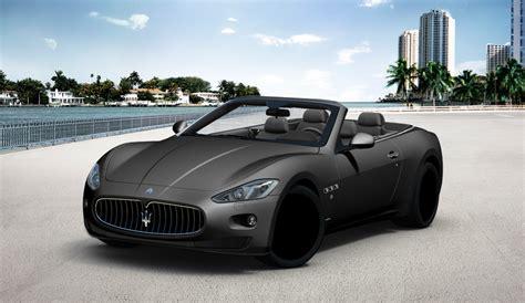matte black maserati convertible maserati granturismo convertible in matte black auto