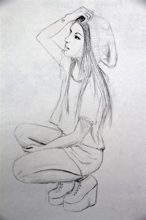 themes for pencil drawing girl full body pencil drawing best 25 good drawing ideas