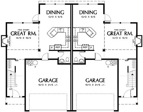two story duplex plans two story great room in quiet duplex 69380am 2nd floor