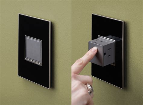 Cool Electrical Outlets | legrand adorne pop out outlets the green head