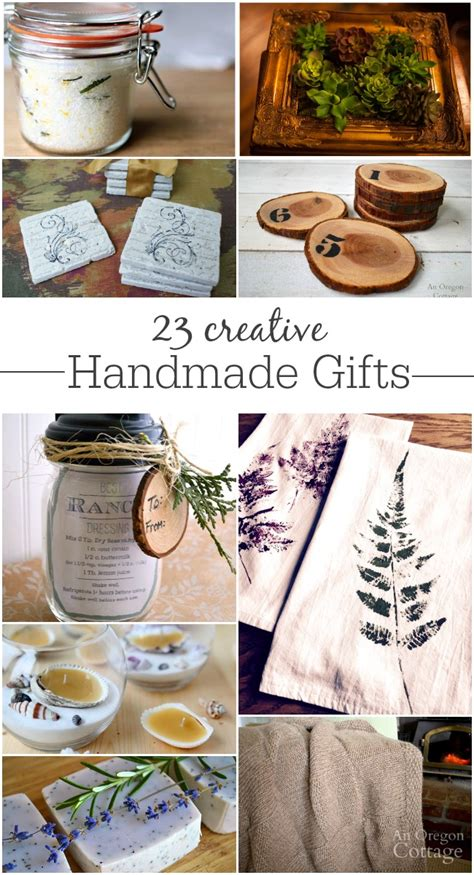 Unique Handmade Gifts - 23 creative handmade gifts for and more