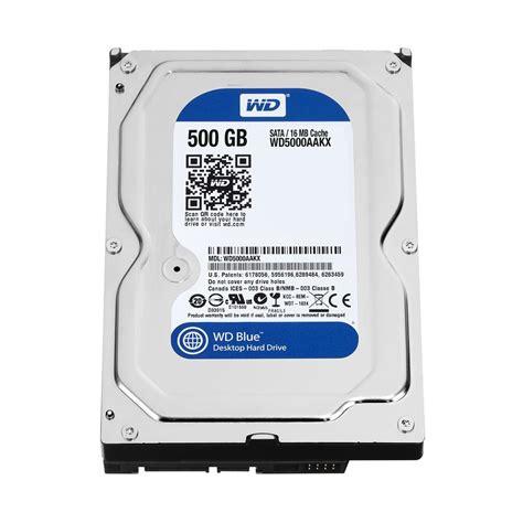 Harddisk Wd 500gb Wd Blue 500gb Sata 3 5 Inch 7200 Rpm Drive Wd5000aakx