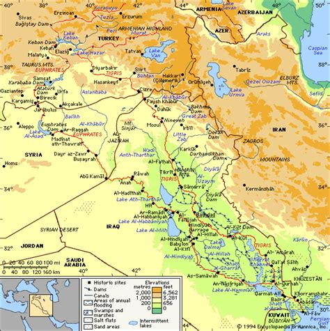 middle east map euphrates river mapgallery