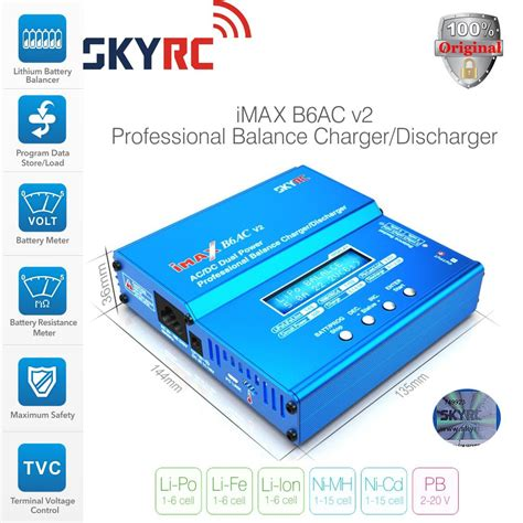 Best Seller Imax B6ac Multifunction Intelligent Balance Lipo Battery genuine skyrc imax b6ac v2 dual power 6s 50watts balance charger discharger for lipo