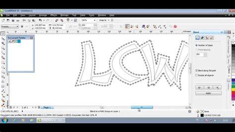 blend tool in coreldraw x5 corel draw contour blend tutorial youtube