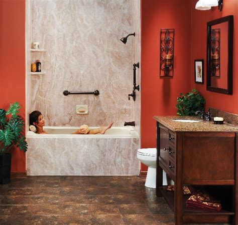 rust bathtub rust tub surround system two day bath and shower asheville nc