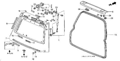 honda crv parts diagram honda store 1997 crv rear windshield parts