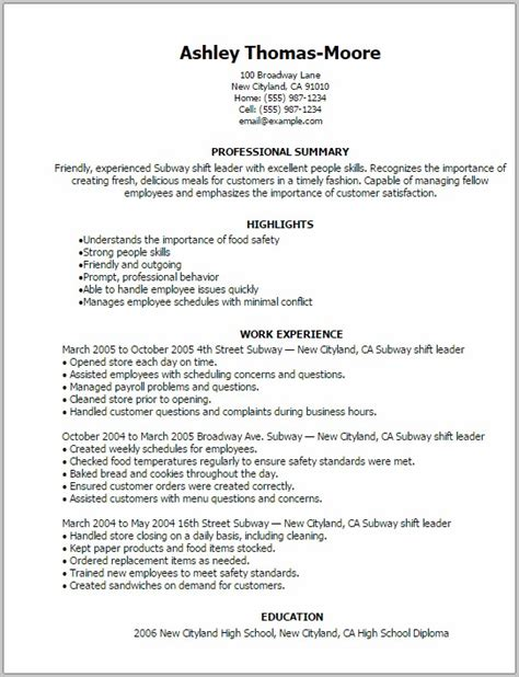 resume cover letter sandwich maker cover letter resume